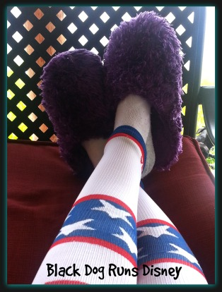 Fuzzy slippers ROCK.