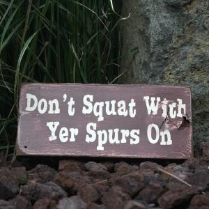 squat sign