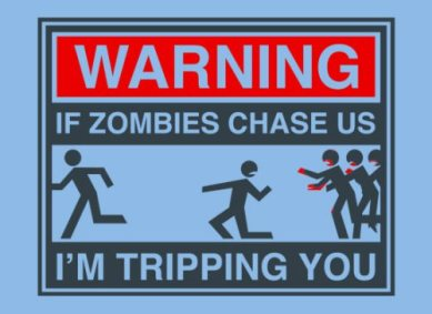 zombies tripping