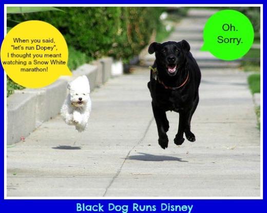 Dopey Running dogs