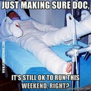 broken runner