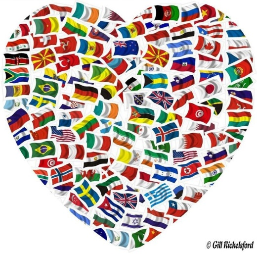 World Flags Heart