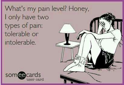 pain tolerable